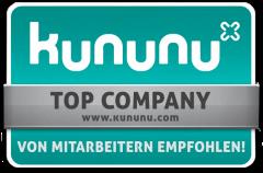 Auszeichnung: Kununu Top Company